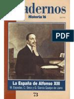 Cuadernos Historia 16, nº 073 - La España de Alfonso XIII