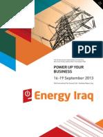 Energy Iraq _ 2013 Brochure
