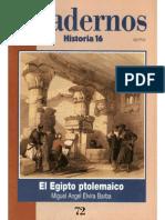 Cuadernos Historia 16, nº 072 - El Egipto Ptolemaico