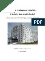 narayana hrudayalaya hospitals research paper