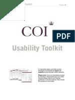 COI Usability Toolkit