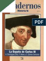 Cuadernos Historia 16, nº 071 - La España de Carlos III