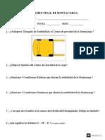 Examen Final de Montacarga