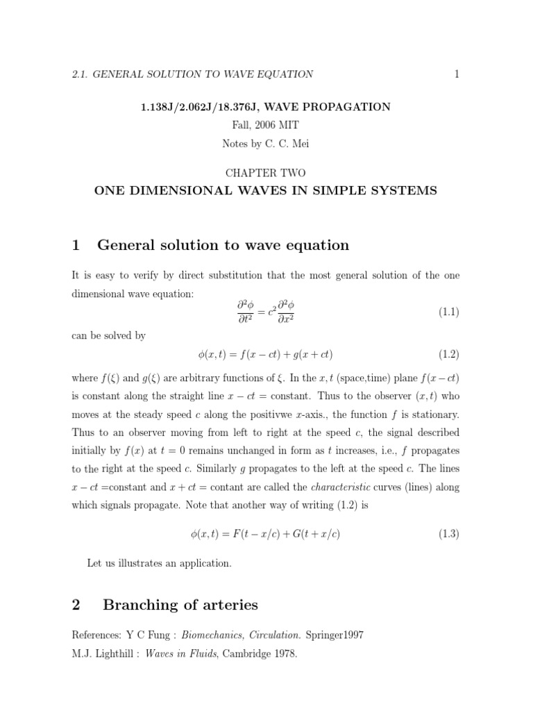 One Dimensional Wave Equation