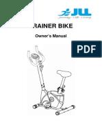JLL JF100 Home Excercise Bike Manual