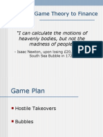 SIM Game Theory to Finance