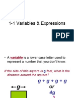 1-1 Variables & Expressions