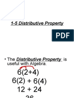 1-5 Distributive Property