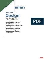 Proyek AnalisaPerancangan Sistem Informasi - Dokumentasi Design