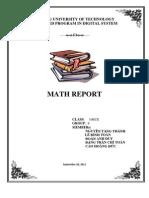 Math Report
