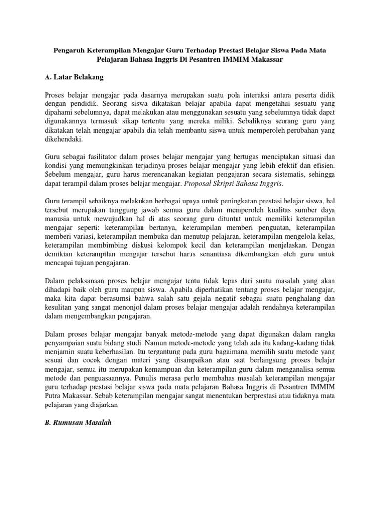 Contoh Proposal Dalam Bahasa Inggris Ilmusosial Id
