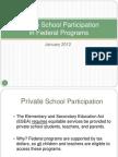 Private School Participation in Federal Programs