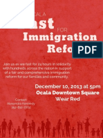 Fast for Immigration Reform Flyer-English