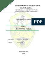 Cultivos Tropicales Calculos de Cutlivos