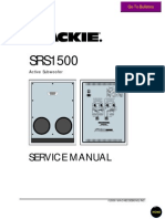 Mackie SRS1500 Service Manual