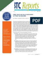 BTC Reports - Final Tax Plan2013