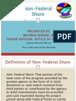 N E HSA Non Federal Share Pre Conf