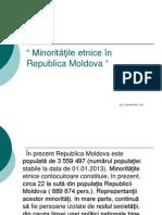 Minorităţile etnice în Republica Moldova