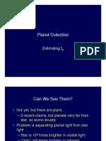 Planet Detection Lecture