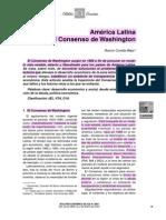 America Latina y El Consenso de W