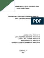 Acessibilidade em Tecnologia da Informação para o Deficiente Físico