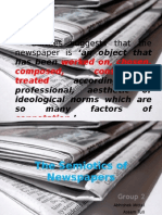 Semiotic study of Newspaper