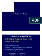 Origins of Intelligence Lecture