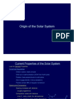 Origins Of the Solar System Lecture