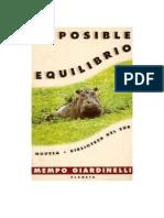Giardinelli Mempo - Imposible Equilibrio