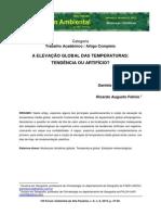 FELICIO - A ELEVAÇÃO GLOBAL DAS TEMPERATURAS TENDÊNCIA OU ARTIFÍCIO