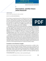 Disciplines, intersections and the future of communication research. Journal of Communication 58 603-614ipline