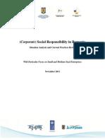 Analysing CSR status in Romania