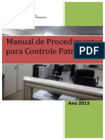 Manual Controle Patrimonial IFPA CAMPUS- 2013