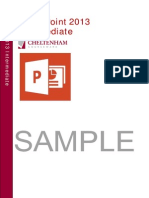 Powerpoint 2013 Intermediate Training Manual