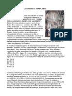 HIPÓTESIS SOBRE EL ACROSTICO TEMPLARIO