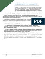 REHABILITACIÓN DE HERNIA DISCAL LUMBAR pdf