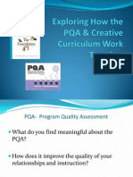 Exploring How the PQA and Creative Curriculum Work Together