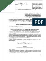 Proyecto de Resolución Legislativa  - 2012