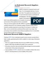 Buy GHRP-6 From Dedicated Research Suppliers