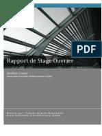 Rapport de Stage Chantier - ENA