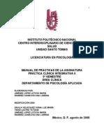 Manual Practica Clinica Integrativa II