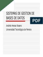 Sistemas de Gestion de Bases de Datos