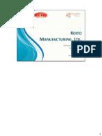 Group 15_KOITO Manufacturing Ltd
