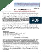 FY14 NDAA Summary Fact Sheet