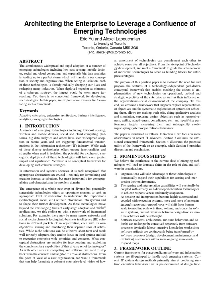 enterprise architecture proposal essay In this essay we look at information systems in supply chain management and enterprise resource management 22 22 discussion there are various types of information systems , these include office automation systems , transactional processing systems , decision support systems , management information systems and knowledge management systems.