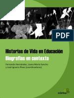 Historias de vida en Educación. Biografias en contexto