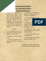 Libro del P. Dávila El DIOS VIVENCIAL, publicaciones en Diarios (1986)