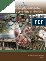 FUNIDES 2013 Disponibilidad y Uso Del Credito de Mediano y Largo Plazo en Nicaragua
