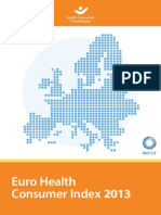 Euro Health, Consumer Index 2013, Report