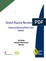 Trends in Proactive Recruitment
